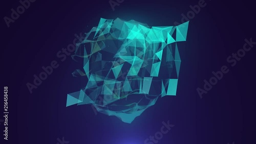 abstract space background, geometry surfaces, lines and