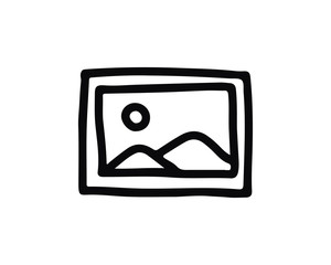 image hand drawn icon , designed for web and app