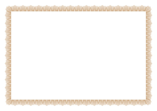Gold Border Blend Outline Style blank ready for certificates