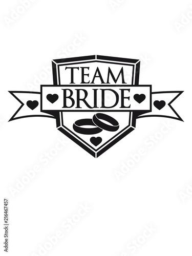 Herz Schild Wappen Ringe Banner Stempel Crew Crew Girls Madchen Team