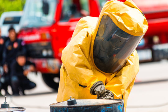 Firefighter training protect Chemical leak