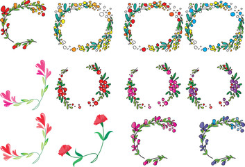 flower border vector drawing