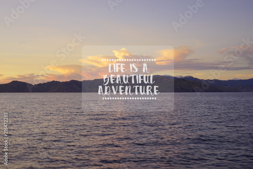 Travel Inspirational Quotes Life Is A Beautiful Adventure Blurry