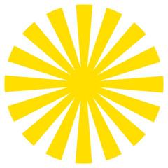 Sun illustration icon