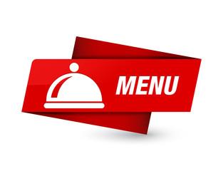 Menu (food dish icon) premium red tag sign
