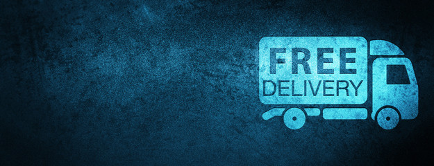 Free delivery truck icon special blue banner background Fotoväggar
