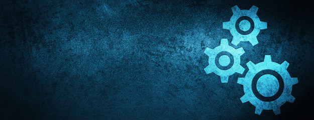 Gears icon special blue banner background