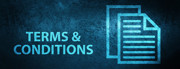 Terms and conditions (pages icon) special blue banner background