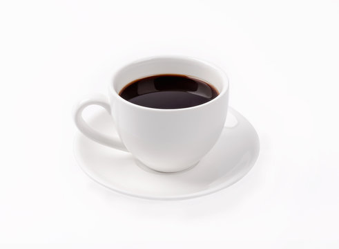 Cup of coffee isolated on whitebackground.
