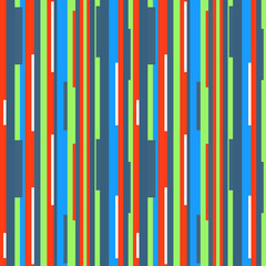 Seamless tile pattern. Vertical geometric wallpaper of the surface. Striped multicolored background. Colored texture. Print for polygraphy, t-shirts and textiles. Doodle for design. Art creation