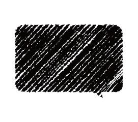 chalk drowing shape ( speech bubble)