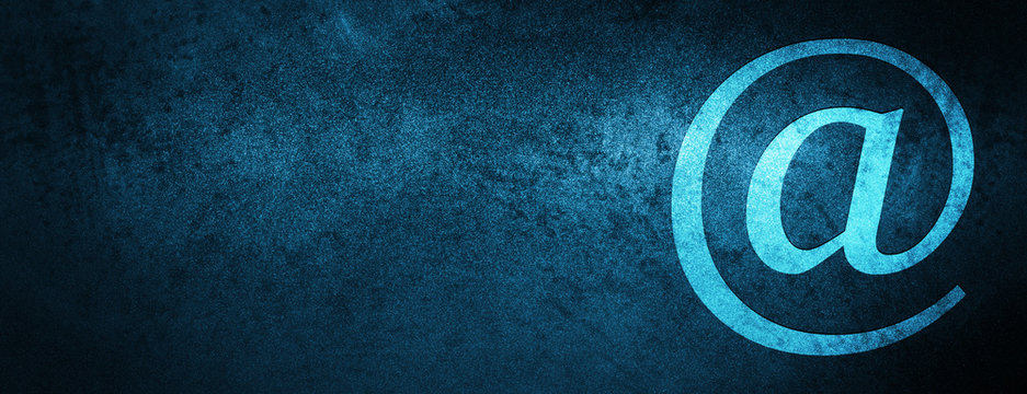 Email address icon special blue banner background