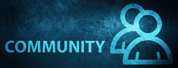 Community (group icon) special blue banner background
