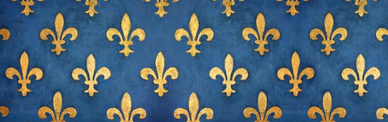 Fresque fleurs de lys / Florence - Palazzo Vecchio (Italie)