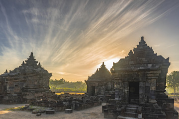 Plaosan Temple Sunrise, as Indonesia national heritage and tourist destination. Taken in August 2018.