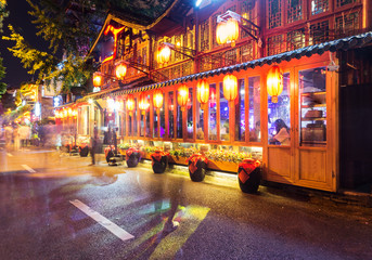 Bar street in Chengdu, China