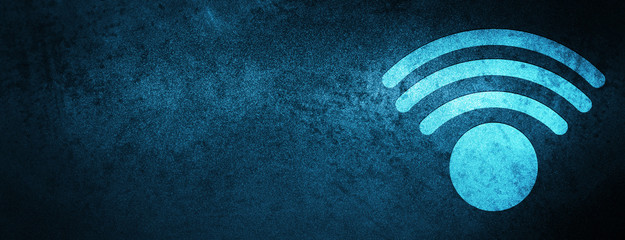 Wifi icon special blue banner background