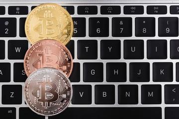 Coin, currency golden bitcoin money