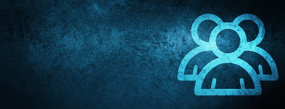 Group icon special blue banner background