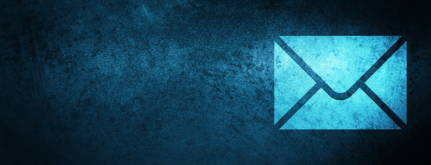 Email icon special blue banner background Fototapete