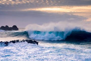 Breaking wave on Tenerife coast, Canary Islands, Spain