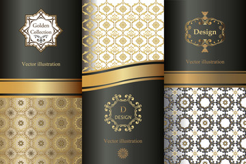 Collection of design elements,labels,icon,frames, for packaging,design of luxury products.