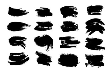 Set of textured Ink paint blob. Nice template for poster, logo, placard