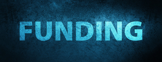 Funding special blue banner background