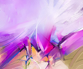 Printed kitchen splashbacks Purple Abstract colorful oil painting on canvas texture