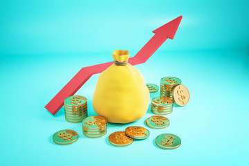 Financial growth and savings concept