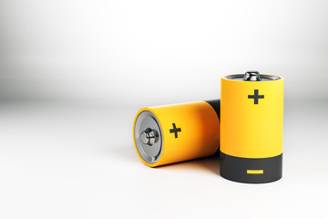 Abstract yellow battery
