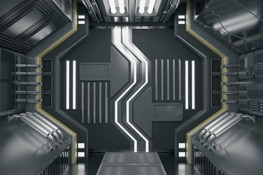 Abstract futuristic corridor