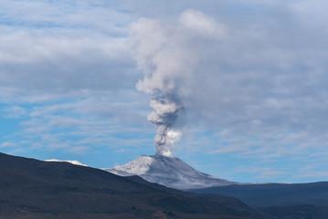 Vulcano eruption at Colca Valley in Peru