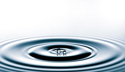 Splash of the falling drops of water