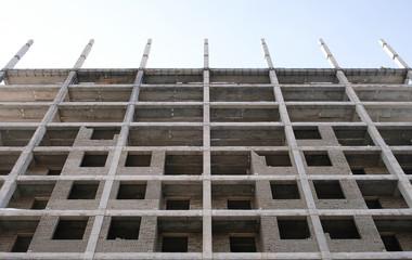Multi-storey residential building under construction.