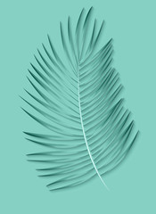 Beautiful Palm Leaf Background. Vector Illustration