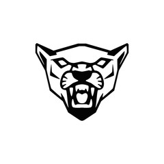puma head sign. Design element for sport team logo, emblem, badge, mascot.