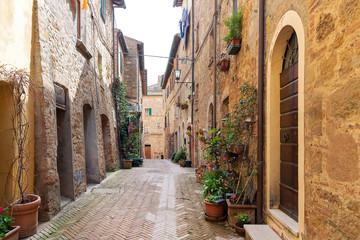 Street of Pienza, Tuscany