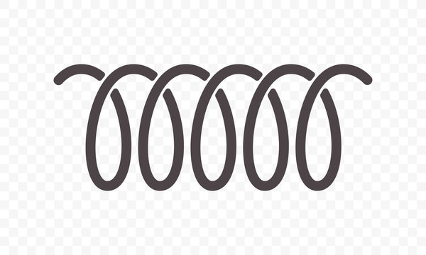 Spiral spring or swirl line vector icon
