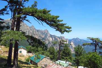 Amazing view at the Col de Bavella moumntains, Corsica, France