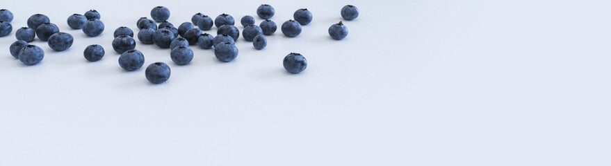 Blueberries and cranberries, berries on a white background. Berry light background.