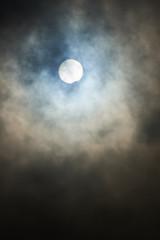 Partial solar eclipse background