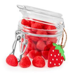 Foto op Canvas Snoepjes Bonbons - Erdbeeren