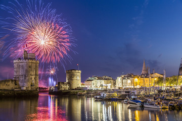 Fireworks at La Rochelle during French National Day