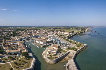 Aerial view of the quay at Saint-Martin-de-Re