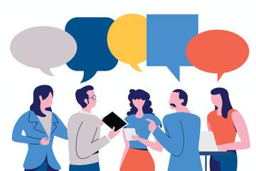 Businessman Discuss social