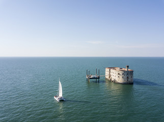 Aerial view of famous Fort Boyard Wall mural