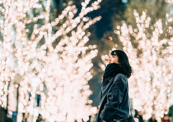 Woman in Winter Illumination