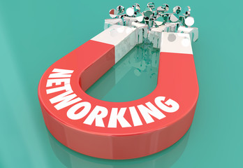 Networking Connecions Meeting Magnet Pulling People 3d Illustration.jpg