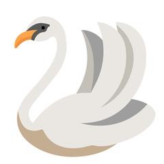 Swan flat illustration